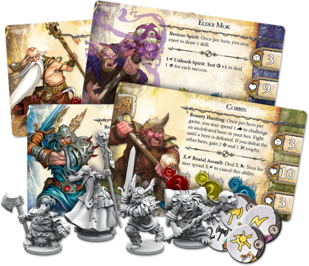 runebound cards and minis