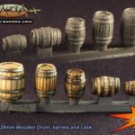 Baueda releases new 28mm Drums Barrels and Casks