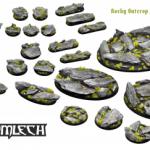 Kromlech release new Rocky Outcrop miniature bases