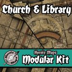 Church & Library modular town maps from Heroic Maps