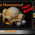 Free Lars Homestead paper model available from Papier Schnitzel