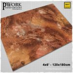 Lands of Mars Sci-Fi game mat available from PWork Wargames