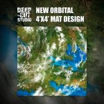 New orbital game mat for Dropfleet Commander from Deep-Cut Studio