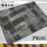 Roads of War game mat available from PWork Wargames
