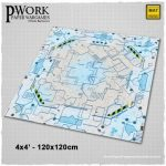 Combat Plaza: Pwork Wargames Sci-Fi Gaming Mat Now Available