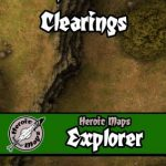 Explorer: Forest Clearings battlemaps available from Heroic Maps