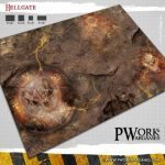 Hellgate fantasy gaming mat available from PWork Wargames