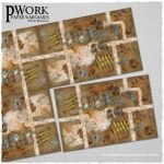 Industrial Ruins: Pwork Wargames science fiction gaming mat Now Available