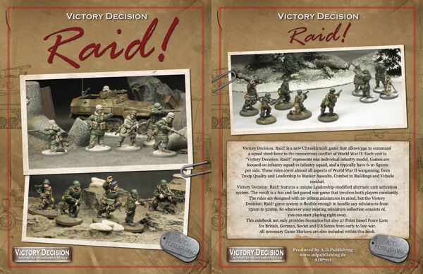 Victory Decision: Raid! now available from AD Publishing