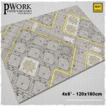 Cyber City game mat from PWork Wargames available