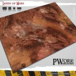 Lands of Mars Gaming Mat Available From Pwork Wargame