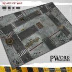 Roads of War Game Mat from PWork Wargames