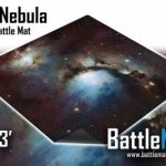 Blue Nebula Rubber Game Mat Available From Battlemats