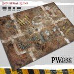 PWork Wargames Release Industrial Ruins Sci-Fi Game Mat