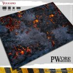 Volkano! Fantasy Gaming Mat from Pwork Wargames!
