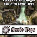 Teoyohtlan Jungle - Cave of the Golden Tombs Tileset available from Heroic Maps