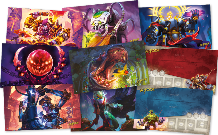 Nine New KeyForge Playmats Announced